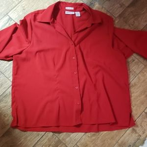 Apparenza deep red blouse size 2x